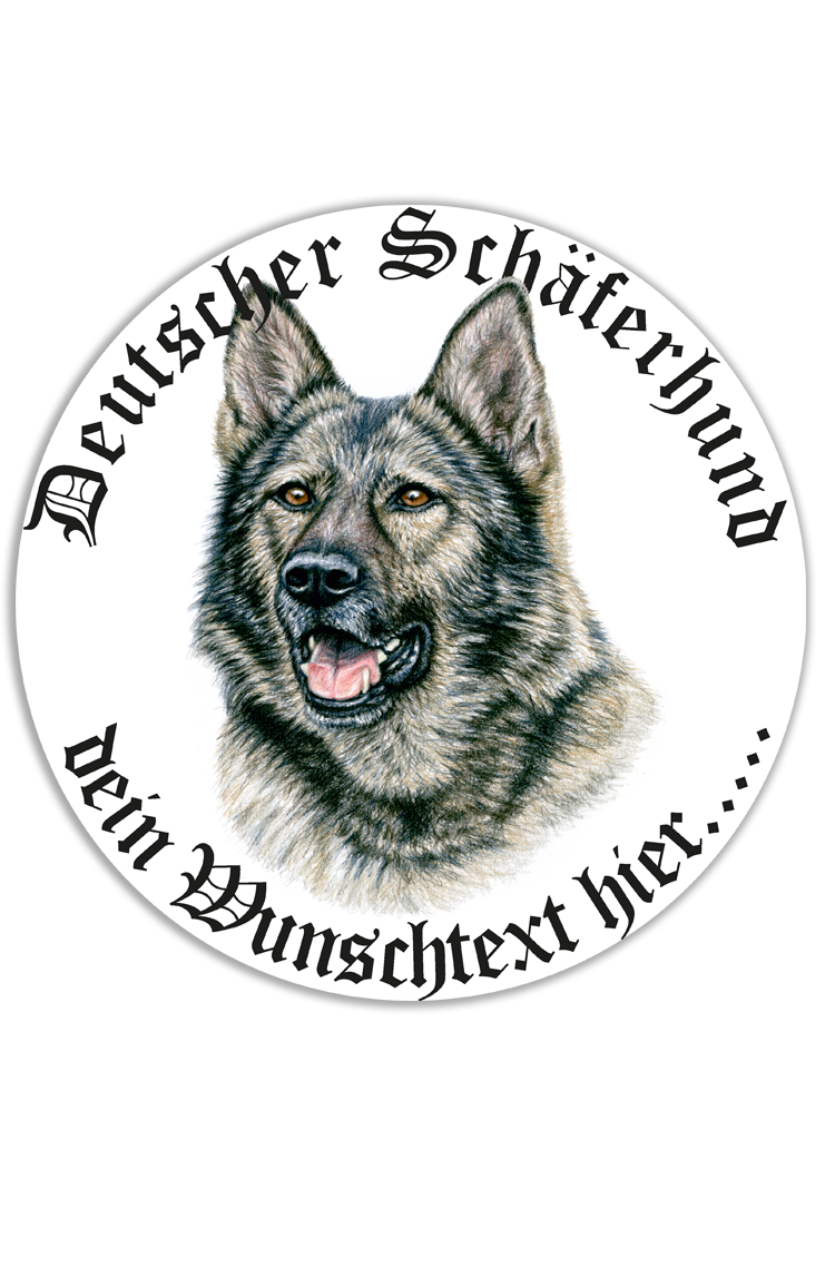 Autoaufkleber Deutscher Schäferhund Wunschtext Ohne Aufpreis
