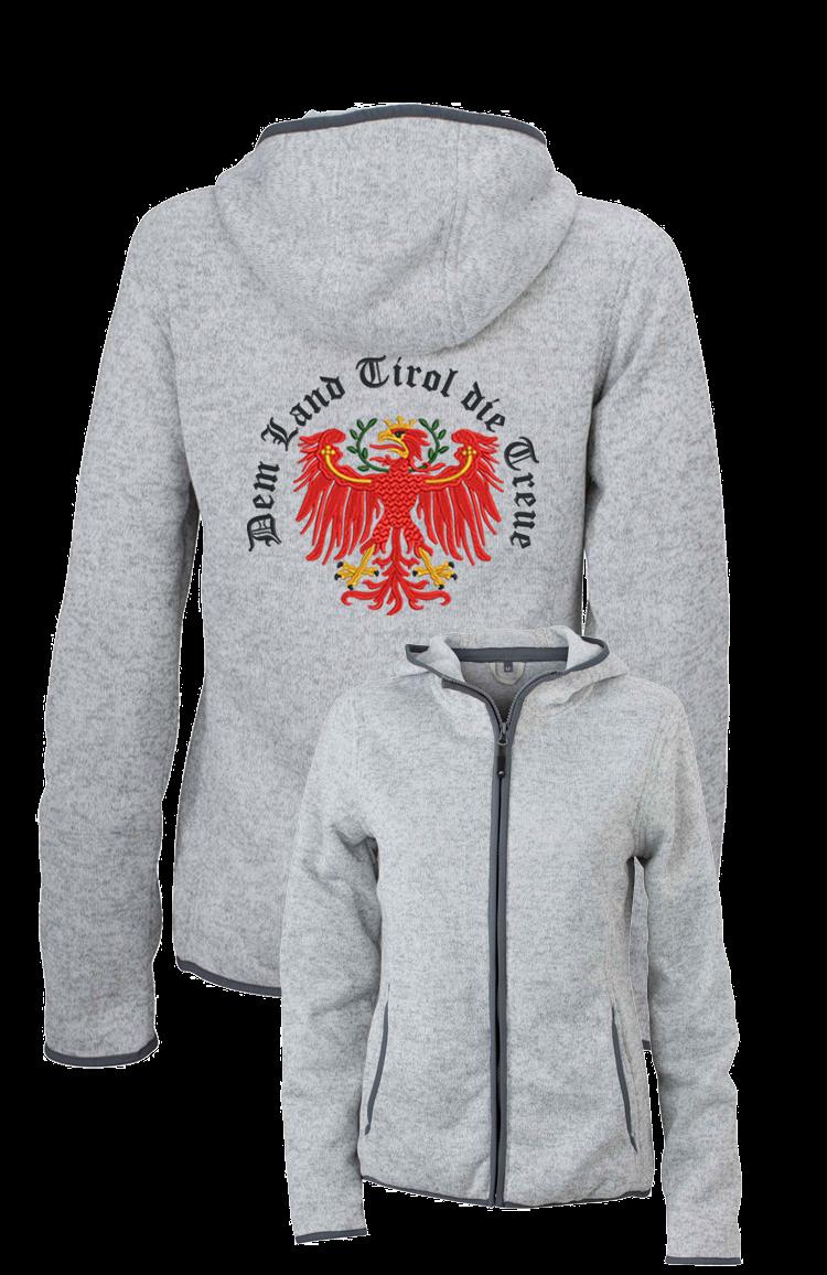 Kapuze – Dem Damen Land Treue Jacke Die Strickfleece Bestickte Tirol Mit E92beDHYIW